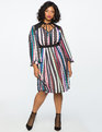 Tie Neck Ruffle Sleeve Dress BETWEEN THE BEADS
