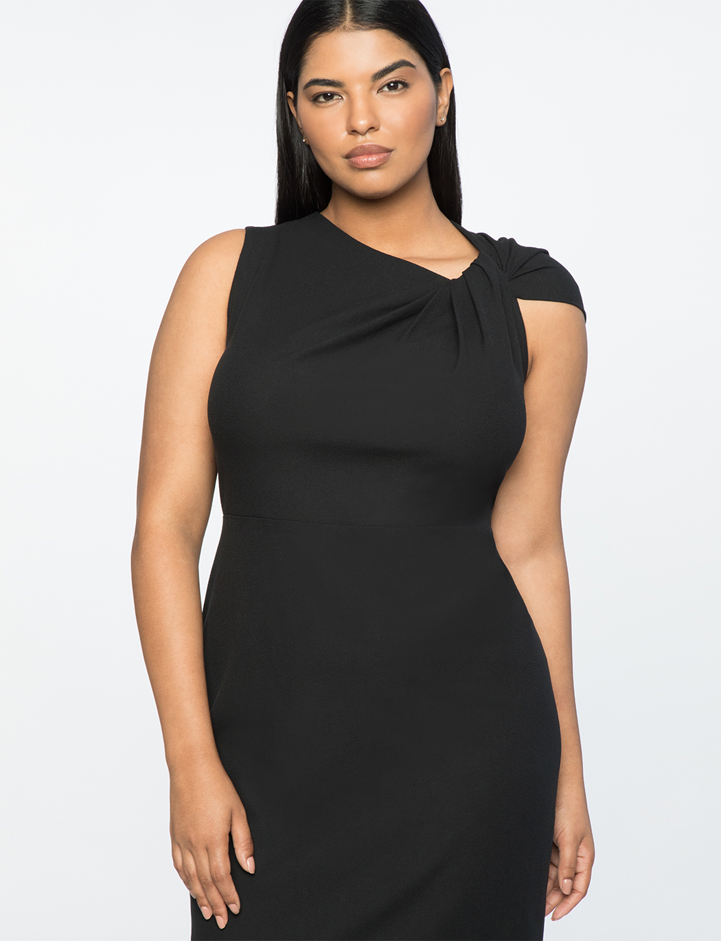 Jason Wu X ELOQUII Twist Shoulder Sheath Dress