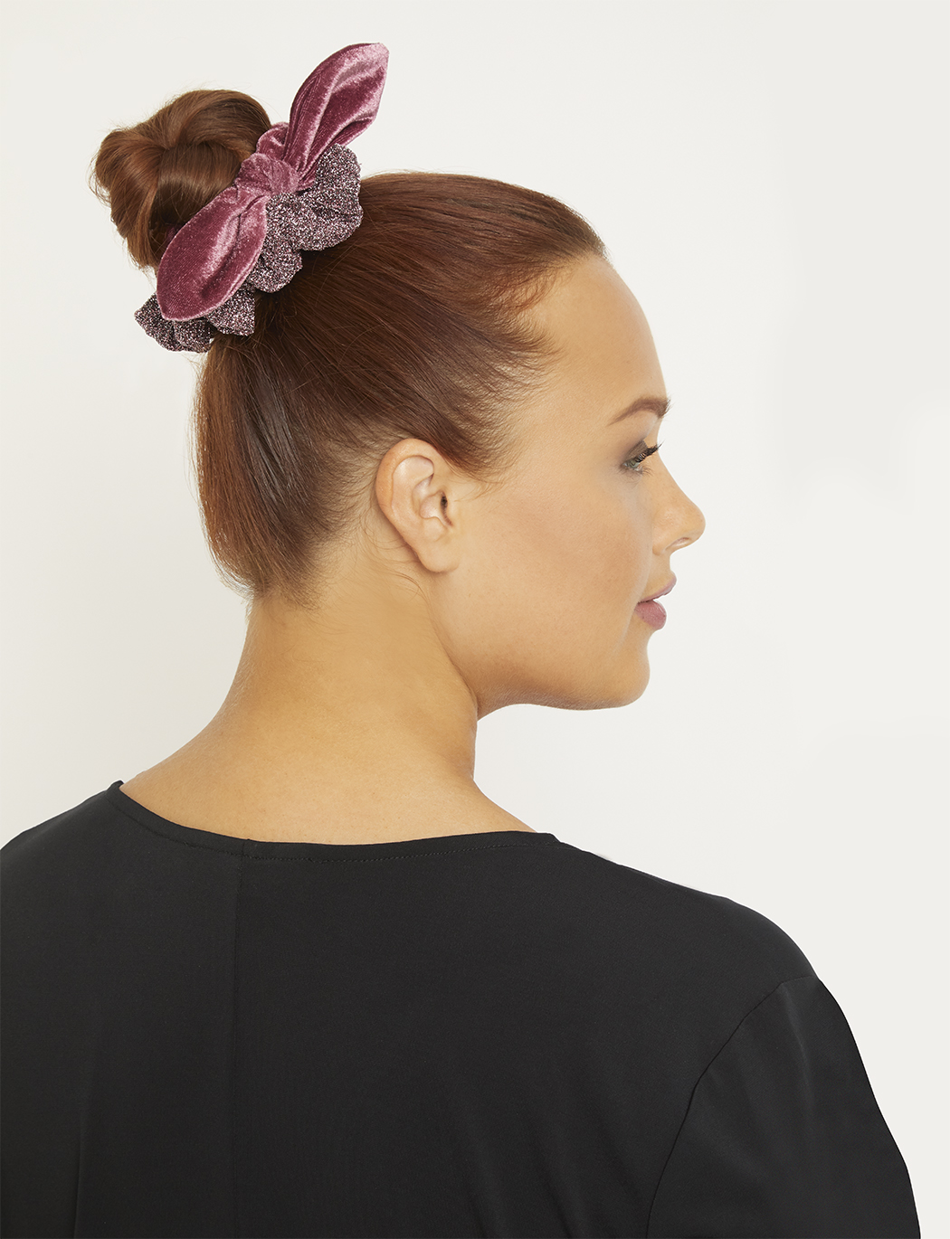 Sparkle + Velvet Scrunchie Duo