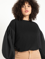 Dramatic Sleeve Sweatshirt Black