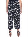 Printed Cropped Flare Pant Petal Pushers