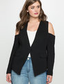 Cold Shoulder Blazer Black