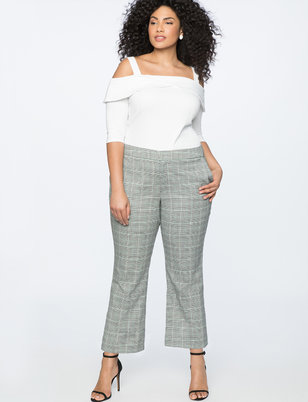 Button Vent Crop Pant