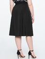 Midi Wrap Skirt TOTALLY BLACK