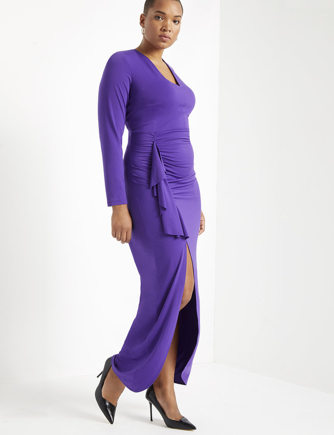 Wrap Gown with Long Sleeve