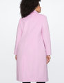 Long Coat With Collar Detail Lilac