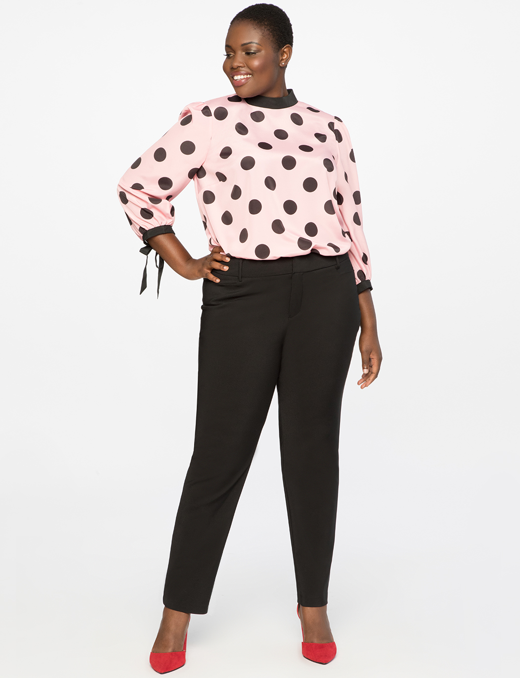 Printed Blouse with Bow Cuff