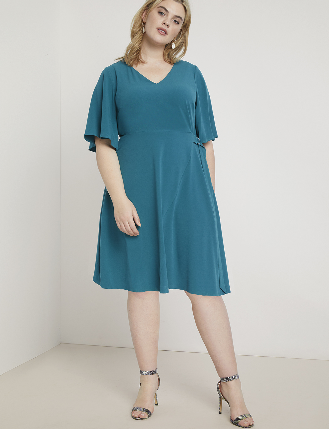 Flutter Sleeve A-Line Dress