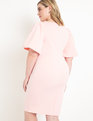 Puff Sleeve Scuba Dress Blush
