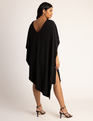 Kimono Sleeve Cape Dress Black