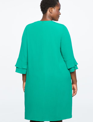 Ruffle Sleeve Easy Dress