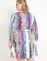 Sequin Wrap Dress Popsicle Stripe
