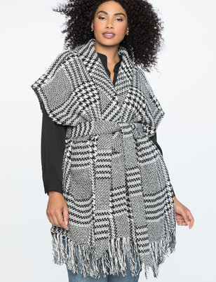 Houndstooth Blanket Coat
