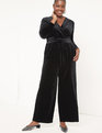 Velvet Jumpsuit Black