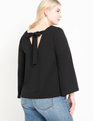 Tie Back Top Totally Black