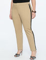 Crop Trouser with Side Stripe Toasted Walnut