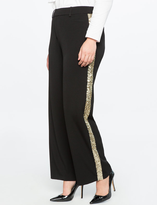 Sequin Side Stripe Trouser