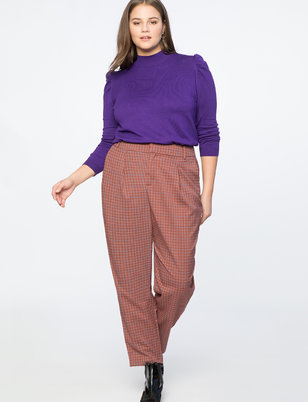 High Waisted Plaid Pant