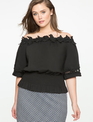 Smocked Waist Off the Shoulder Top