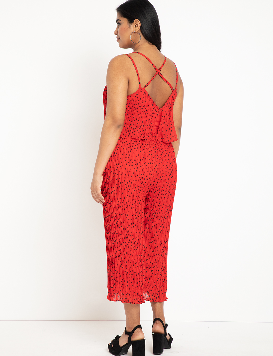 Pleated Crop Jumpsuit
