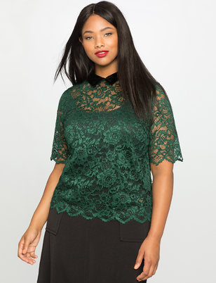 Lace Collared Top