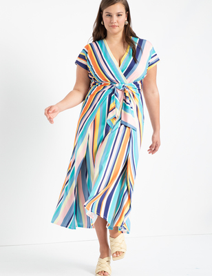Easy Maxi Dress With Wrap Tie Skirt