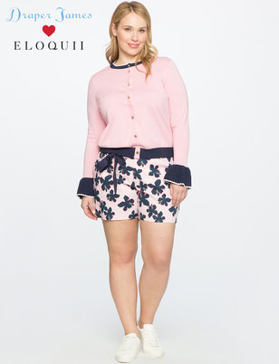 Draper James for ELOQUII Hibiscus Printed Short