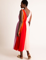Colorblocked Midi Dress Multicolor