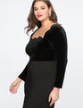 Scallop Neckline Sheath Dress Totally Black