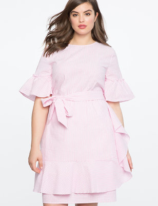Ruffle Wrap Skirt Dress
