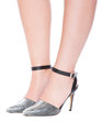 Camilla Ankle Wrap Pump Faux Leather Snake Print