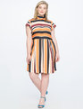 Opposing Stripes Tie Back Dress POWER PLANT STRIPE