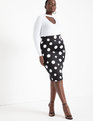 Neoprene Pencil Skirt Rock The Dot