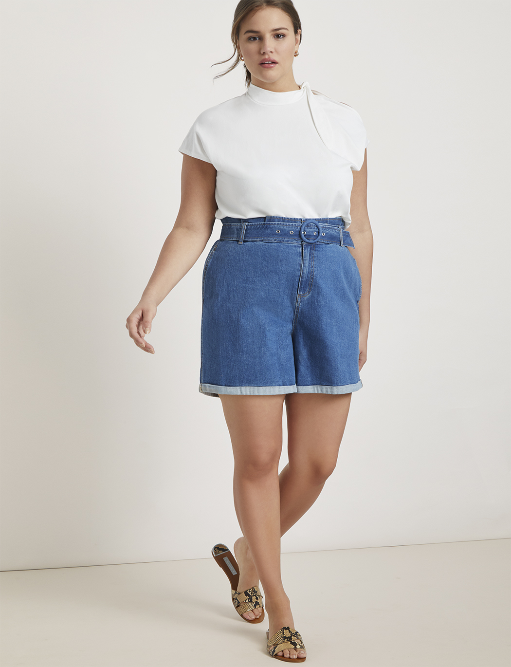 Paperbag Waist Denim Short