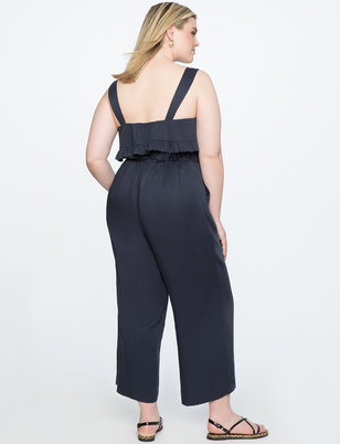 Wide Leg Jumpsuit with Overlay