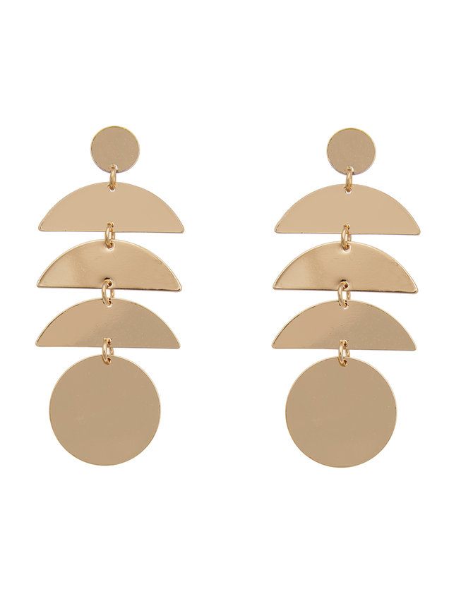 Geometric Circle Drop Earrings