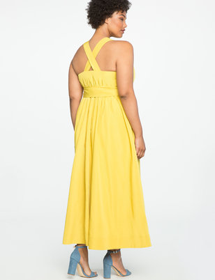 Tie Waist Halter Dress
