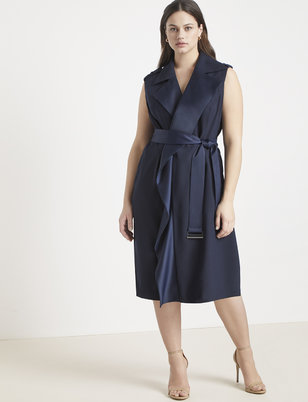 a9cbfd307c3 Jason Wu ELOQUII Sleeveless Trench Dress ...
