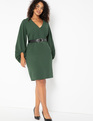 Textured Balloon Sleeve Dress SYCAMORE