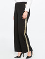 Sequin Side Stripe Trouser Totally Black