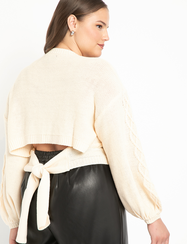 Tie Back Sweater