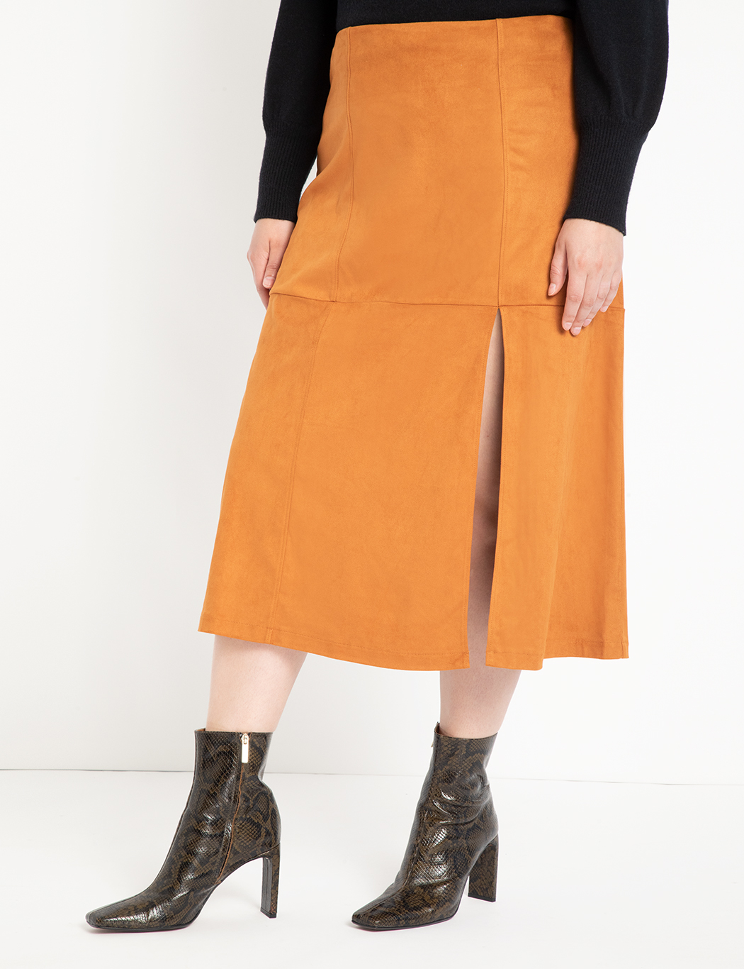 Long Suede Skirt