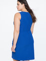 Shift Dress with Asym Wrap  Cosmic Blue