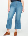 Cropped Flare Leg Jeans LIGHT WASH
