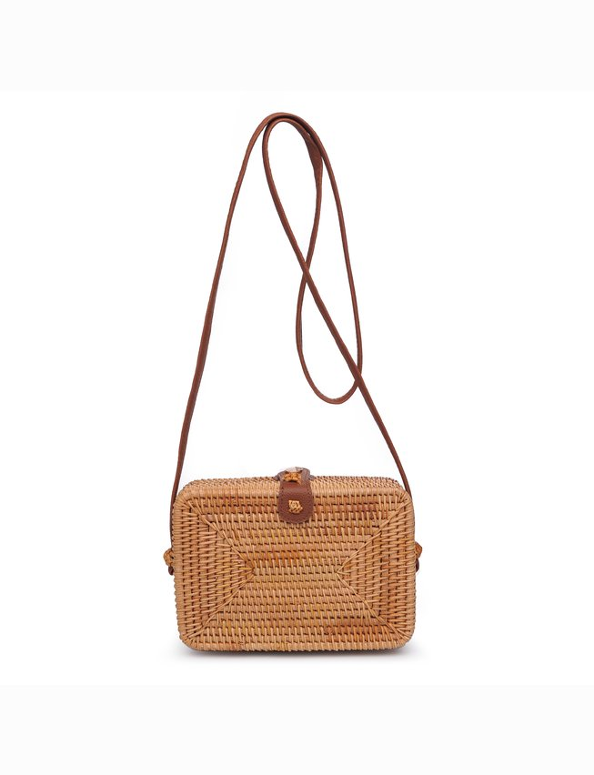 Rectangle Rattan Shoulder Bag