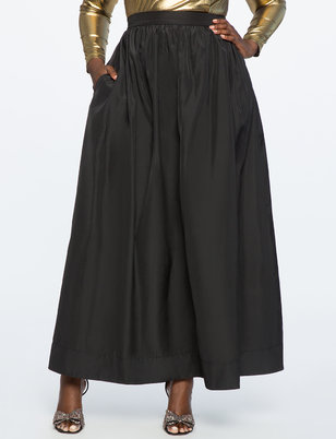 Taffeta Ball Gown Maxi Skirt