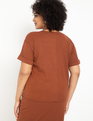 Ribbed Easy Tee Rusty Brown