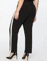 Slim Trouser With Side Stripe Totally Black/White