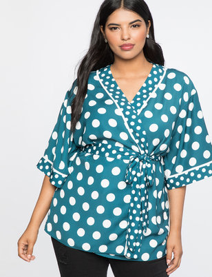 Printed Robe Top