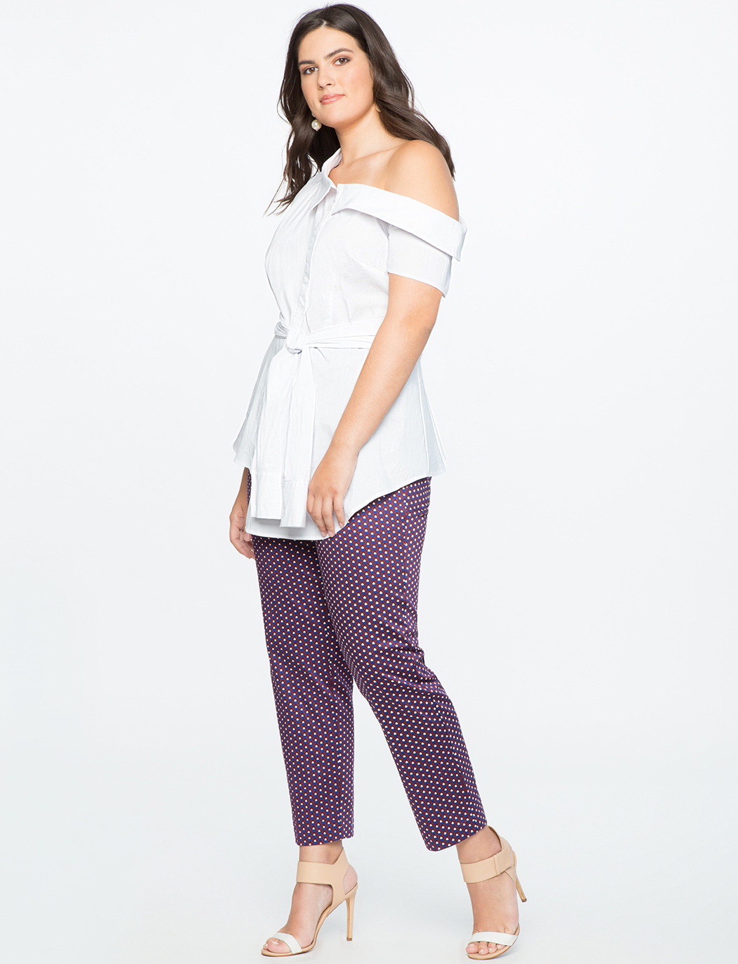 Asymmetric Button Up Top